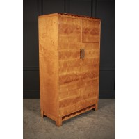Art Deco Satin Birch Wardrobe