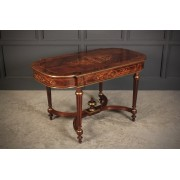 Magnificent Marquetry Inlaid Rosewood Centre Table