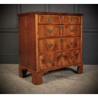 Queen Anne Oak & Walnut Chest of Drawers