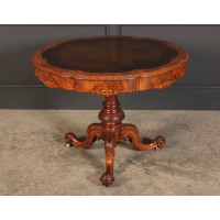 Burr Walnut Shaped Drum Centre Table