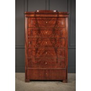 Biedemier Flame Mahogany Hanging Cupboard