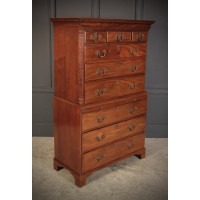 18th Century Chinese Chippendale Style Mahogany Chest on Chest
