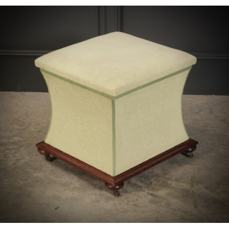 Regency Shaped Upholstered Ottoman