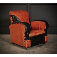 Rare Art Deco Style Leather Childs Club Chair