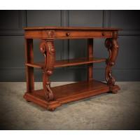Victorian Oak 3 Tier Console Table