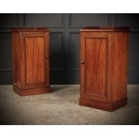 Pair of 19th Century Mahogany Bedside Cupboards