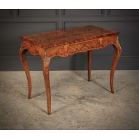 Walnut Marquetry Inlaid Side Table