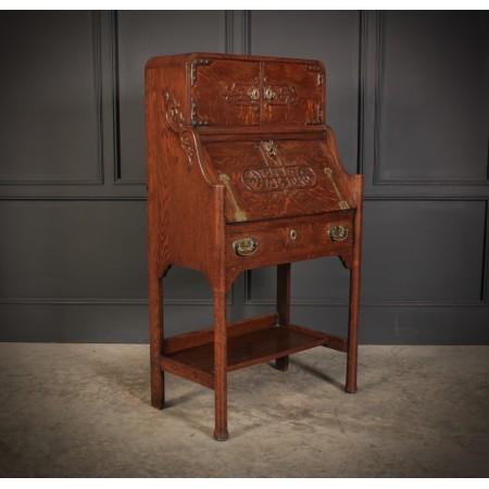 Art Nouveau Oak Bureau