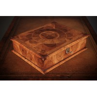 Oyster Veneered Walnut Lace Box