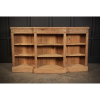Bleached Carved Oak Open Bookcase
