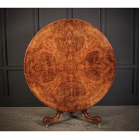 Victorian Burr Walnut Round Breakfast Table