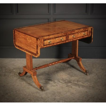 Regency Satinwood Sofa Table