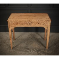 Raw Oak Sandblasted Side Table