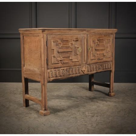 Bleached Oak Side Cabinet