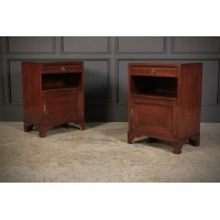 Pair of Inlaid Mahogany Bedsides