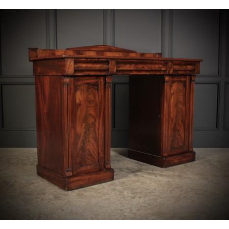 Flame Mahogany Pedestal Sideboard