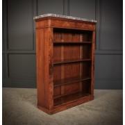 Figured Walnut Open Bookcase