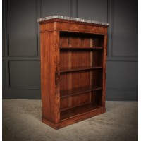 Figured Walnut Open Bookcase