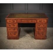 Exceptional Victorian Figured Walnut Desk