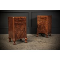 Pair of Burr Walnut Bedside Cabinets