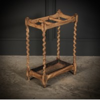 Bleached Raw Oak Umbrella / Stick Stand