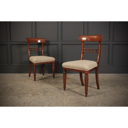 William IV Pair of Mahogany Chairs