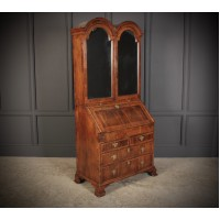 Queen Anne Walnut Bureau Bookcase