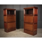 Pair Of Stacking Library Sectional Bookcases