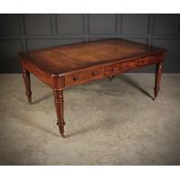 Large Victorian Mahogany Partners Writing Table