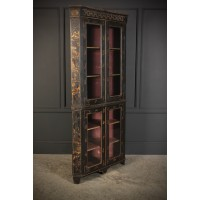 Rare George III Chinoiserie Corner Cupboard