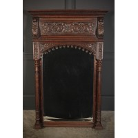 Carved Oak Pier Mirror