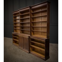 Very Large Georgian Mahogany Breakfront Open Library Bookcase