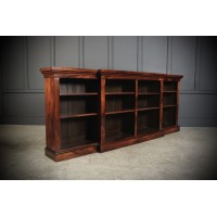 Large Regency Breakfront Rosewood Open Bookcase