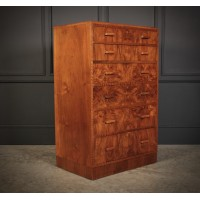Art Deco Figured Walnut Chest by Maple & Co.