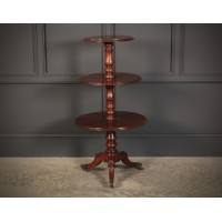Georgian Mahogany 3 tier Dumb Waiter