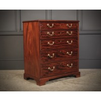 Small Georgian Mahogany Secretaire Chest Of Drawers