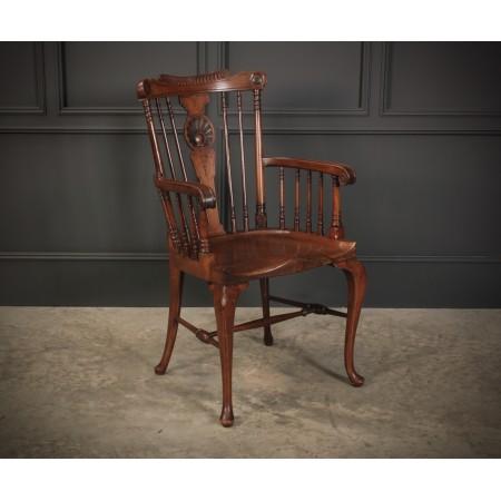 Windsor Style Mahogany Desk Chair