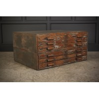 Distressed Oak Architects Plan Chest