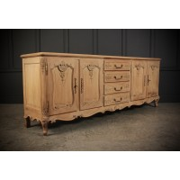 Very Large French Carved Oak Sideboard