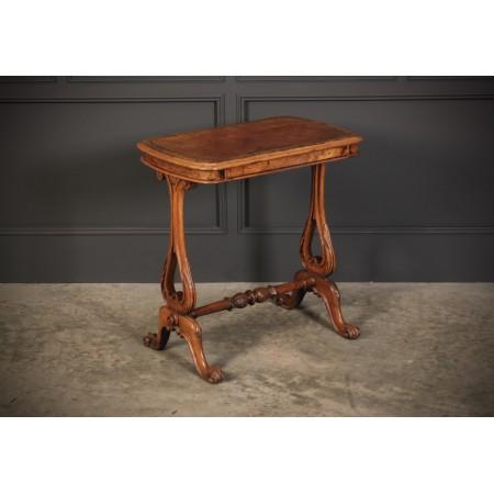 Small Walnut Writing Table