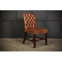 Gainsborough Style Buttoned Leather Chair