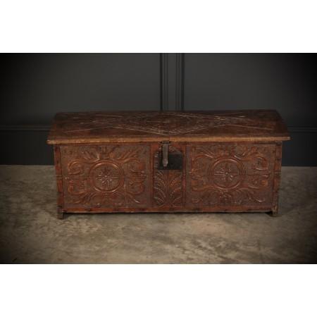 5 Plank Oak Coffer Box