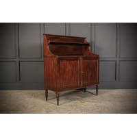 Regency Mahogany Waterfall Side Cabinet
