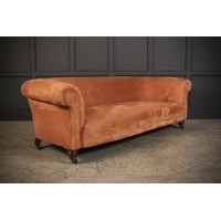 Genuine Victorian Suede Chesterfield Sofa