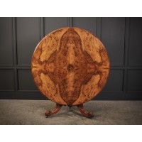 Round Quarter Veneered Walnut Breakfast Table