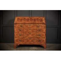 Rare 18th Century Oyster Veneered Walnut Bureau