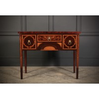 Small Marquetry Inlaid Mahogany Sideboard