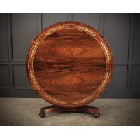 Magnificent Brass Inlaid Rosewood Dining Table