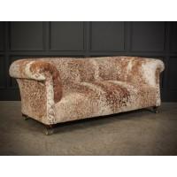 Victorian Cow Hide Chesterfield Sofa