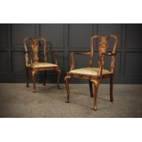 Pair of Chinoiserie Japanned Armchairs
